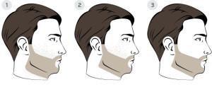 Rasage du cou et des pommettes pour une barbe