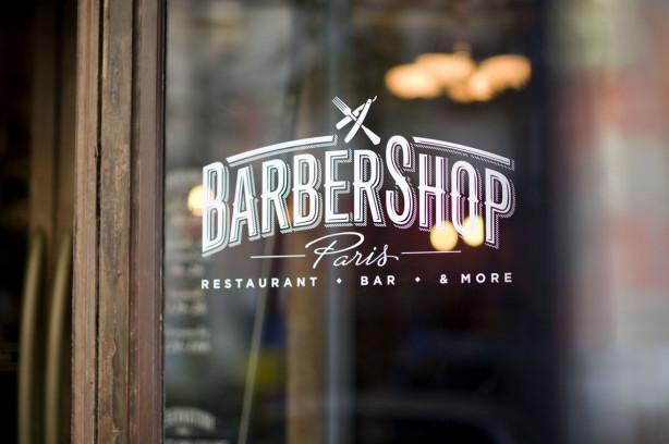 Barber Shop Restaurant Paris Logo