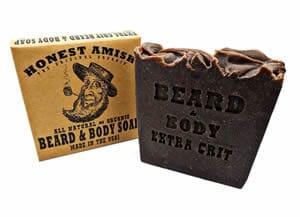savon exfoliant gommage scrub barbe