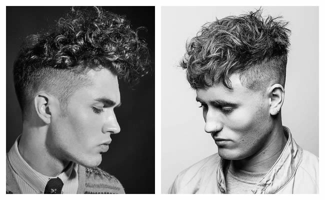undercut frisee curly coupe homme